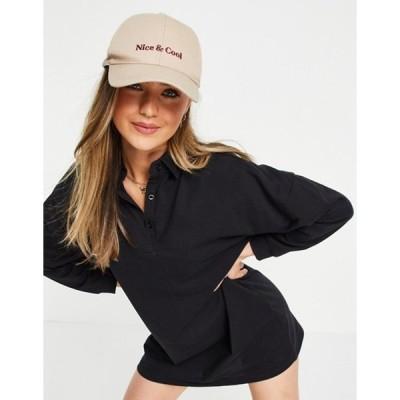 ローラ メイ レディース ワンピース トップス Lola May long sleeve polo shirt dress in black