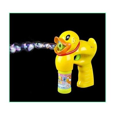 Light Up Duck Bubble Gun - Bubble Blowing Blaster with 2 Bottles of Solution and Batteries【並行輸入品】