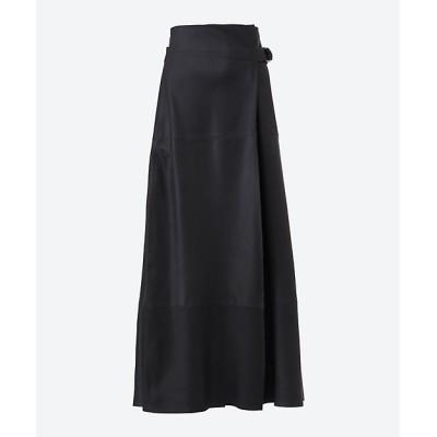 <Rawtus(Women)/ロウタス> レザースカート BOX-PLEATED SHIRT 95 NAVY【三越伊勢丹/公式】