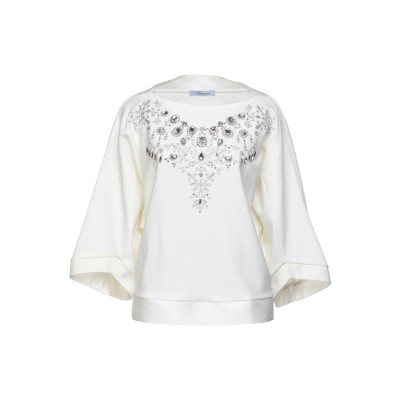 ブルマリン BLUMARINE スウェットシャツ ホワイト 40 レーヨン 72% / ナイロン 23% / ポリウレタン 5% スウェットシャツ