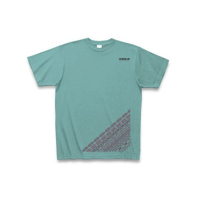 CHAIN UP・TYPE-A Tシャツ Pure Color Print(ミント)