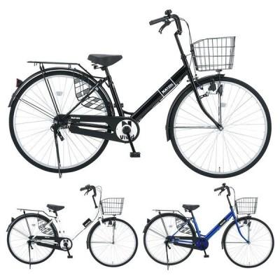 NANAV ナナブイ 27インチ ダイナモライト 変速無し NA-V27 / だいわ自転車 ファミリーサイクル ((大サイズ))