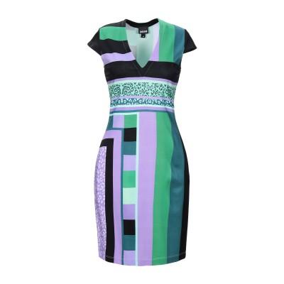 ジャストカヴァリ JUST CAVALLI ミニワンピース&ドレス グリーン 36 レーヨン 95% / ポリウレタン 5% ミニワンピース&ドレス