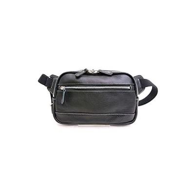 [ベイソン]ボディバッグ カーフレザー 牛革 ブラック 日本製 兵庫県豊岡市 革鞄TY-125N