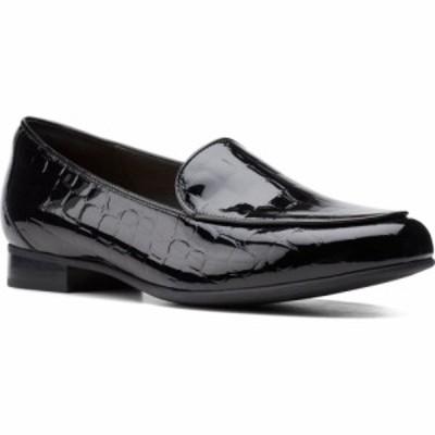 クラークス CLARKS レディース スリッポン・フラット シューズ・靴 Blush Ease Flat Black Patent Leather
