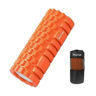 LEEPWEI フォームローラー 筋膜リリース グリッドフォームローラー ヨガポール トレーニング スポーツ フィットネス ストレッチ器具