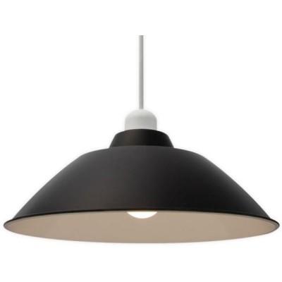 アイリスオーヤマ PL8L-E26PE1-B LEDペンダントライト LED電球セット Gammel Plas ホーロー調 Mサイズ ブラック(PL8LE26PE1B)