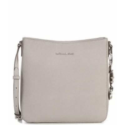 マイケルコース レディース ハンドバッグ バッグ Jet Set Travel Saffiano Leather Large Messenger Bag Pearl Grey