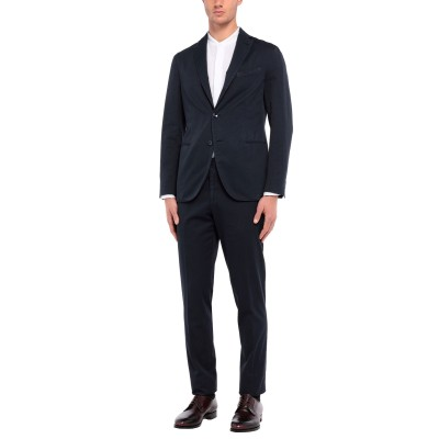 ボリオリ BOGLIOLI スーツ ダークブルー 50 コットン 87% / ナイロン 13% スーツ