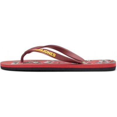 ジャック アンド ジョーンズ Jack & Jones メンズ ビーチサンダル シューズ・靴 Logo Print Pack Flip Flop Barbados Cherry/
