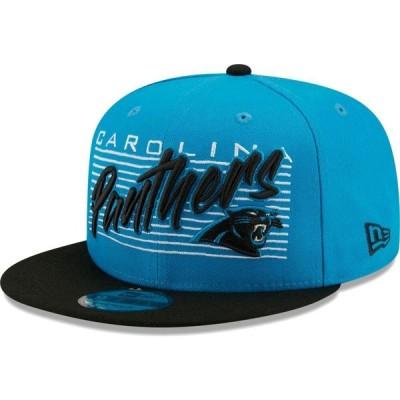 ニューエラ New Era メンズ キャップ 帽子 Carolina Panthers Blue 9Fifty Strike Adjustable Hat