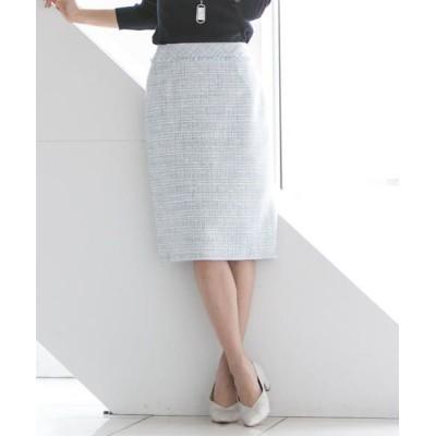 LAUTREAMONT/ロートレアモン 【セットアップ対応】ミックスラメツイードスカート ブルー系その他 9号
