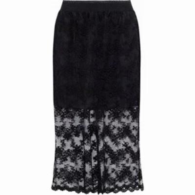 アナスイ その他スカート Layered embroidered tulle skirt Black