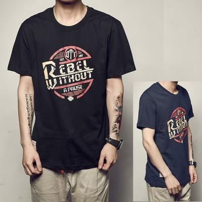 メンズ Tシャツ トップス カットソー 半袖 おしゃれ アメカジ ロゴ プリント ファッション 2020 大きいサイズ トレンド 夏 シャツ