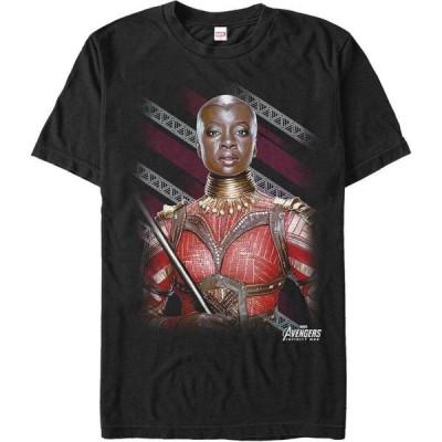 マーベル Marvel メンズ Tシャツ トップス The Avengers Infinity War Okoye Wakanda's Finest Warrior Short Sleeve T-Shirt Black