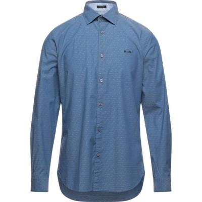 ゲス GUESS メンズ シャツ トップス solid color shirt Slate blue
