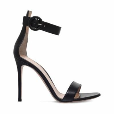 ジャンヴィト ロッシ GIANVITO ROSSI レディース サンダル・ミュール シューズ・靴 Portofino leather sandals Black