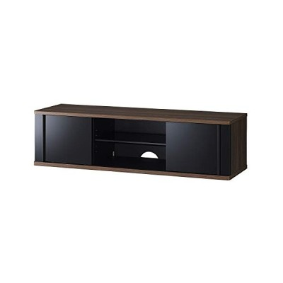 ハヤミ SDシリーズ 3255V型対応 光沢扉と木目の組み合わせが美しい、家具調デザインのテレビ台 TV-SD1250B ダーク