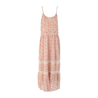 MAISON HOTEL ロングワンピース&ドレス フューシャ S レーヨン 85% / Lurex® 15% ロングワンピース&ドレス