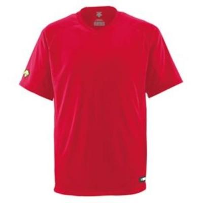 デサント(DESCENTE) ジュニアベースボールシャツ(Vネック) (野球) JDB202 レッド 150【代引不可】【同梱不可】[▲][TP]