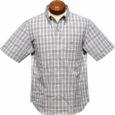 マックレガー ボタンダウン半袖シャツ メンズ 111161306 サッカー素材 半袖シャツ L