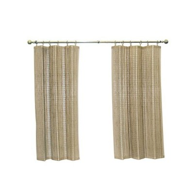 Bamboo Ring Top Curtain Window Panel, 40 by 63-Inch L x H, Driftwood【並行輸入品】