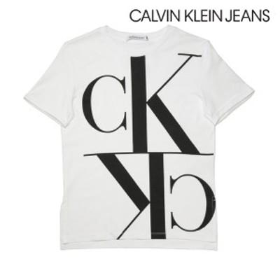 2020春夏モデル[カルバンクラインジーンズ]CALVIN KLEIN JEANS レディースTシャツ(ホワイト) CK-353