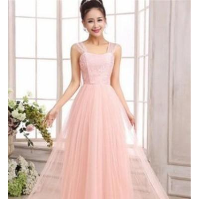 ブライズメイドドレス ファッション パーティードレス 無地 結婚式ドレス ブライダル 着心地よい ハイセンス セール★ レディースドレス