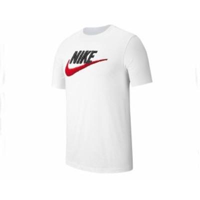 ナイキ M NSW TEE BRAND MARK 毛羽たったシャギーが魅力の立体ロゴ Tシャツ メンズ NIKE 【AR4993 100スウォッシ】