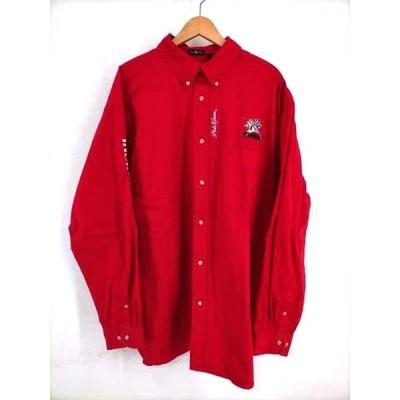 ユーズドフルギ USED古着 バック刺繍 ボタンダウンシャツ メンズ 2XL 中古 210319