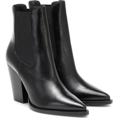 イヴ サンローラン Saint Laurent レディース ブーツ ショートブーツ シューズ・靴 leather ankle boots Noir