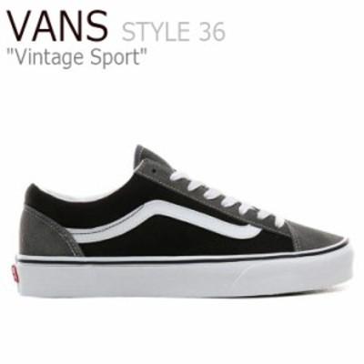 バンズ スタイル36 スニーカー VANS STYLE 36 Vintage Sport スタイル 36 ヴィンテージ スポーツ PEWTER BLACK VN0A3DZ3XMP シューズ