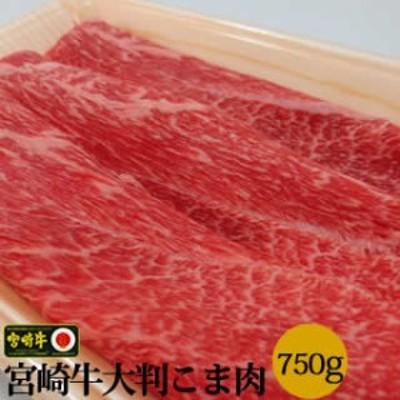 【送料無料】送料無料!宮崎牛大判こま肉大盛り750g※複数同梱購入でオマケも
