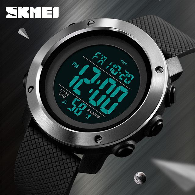 時刻美SKMEI 不鏽鋼圈 多功能電子錶 休閒錶 運動錶 男錶 學生錶 手錶