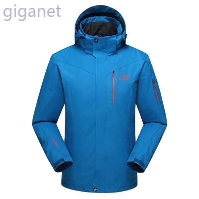 マウンテンパーカーメンズアウトドアジャケット厚手ブルゾンフード付き防風保温暖かいバイクウェア登山旅行スキーウェア大きいサイズ2019新作