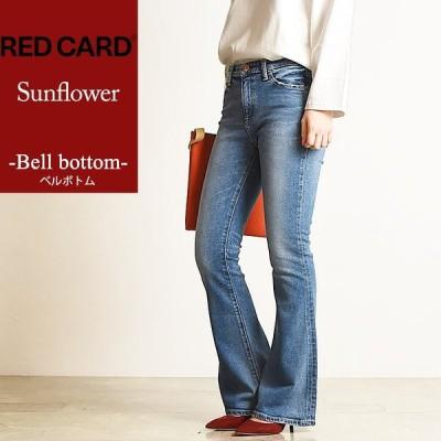 レッドカード RED CARD レディース サンフラワー ベルボトム デニムパンツ ジーンズ  Sunflower 35417 【裾上げ無料】