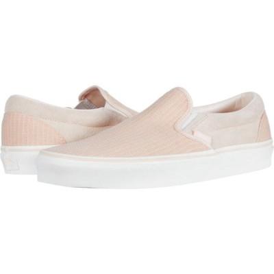 ヴァンズ Vans レディース スリッポン・フラット シューズ・靴 Classic Slip-On Creme de Peche/Snow White