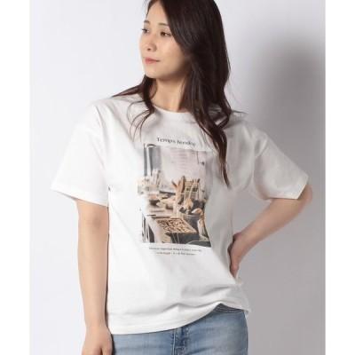 【サマンサ モスモス】【SM2】パン転写プリントTシャツ