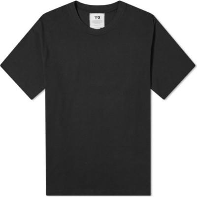 ワイスリー Y-3 メンズ Tシャツ トップス 3-stripe tee Black