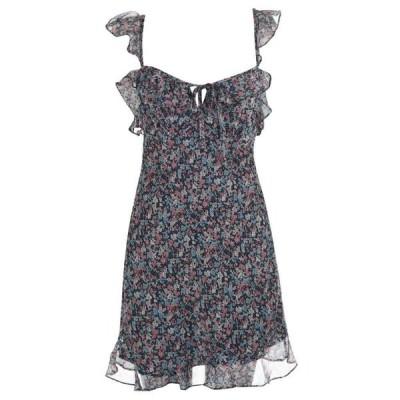 イーストオーダー The East Order レディース ワンピース ミニ丈 ワンピース・ドレス Cece Floral Ruffle Mini Dress NIGHTPOPPY