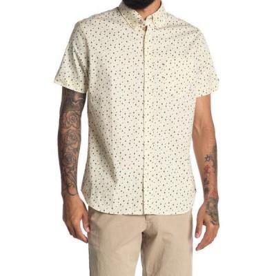 ベンシャーマン メンズ シャツ トップス Short Sleeve Dash Print Shirt Ivory