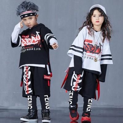 キッズ ダンス衣装 ヒップホップ HIPHOP 子供 ダンストップス パンツ Tシャツ ダンス  パンツ 長ズボン ジャズダンス 練習着