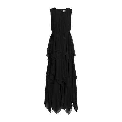 MIKAEL AGHAL ロングワンピース&ドレス ブラック 10 ポリエステル 100% ロングワンピース&ドレス