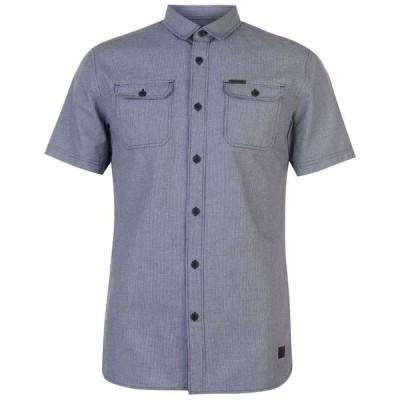 ファイヤートラップ Firetrap メンズ トップス Blackseal Dogtooth Shirt Blue