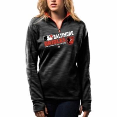 Majestic マジェスティック スポーツ用品  Majestic Womens Baltimore Orioles Black Authentic Collection 1/4-Zip Strea