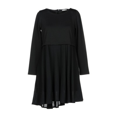 BLUKEY ミニワンピース&ドレス ブラック 44 77% ポリエステル 18% レーヨン 5% ポリウレタン ウール ミニワンピース&ドレス
