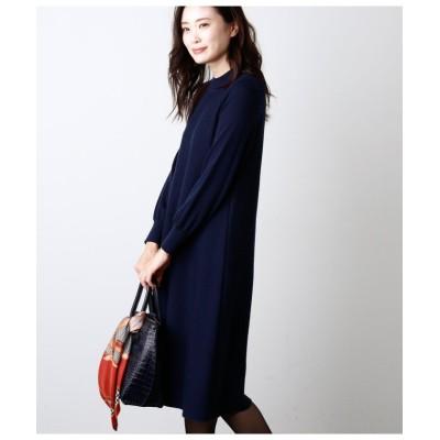 (NEWYORKER/ニューヨーカー)Premium Knit Dress/Aラインニットワンピース/レディース ネイビー