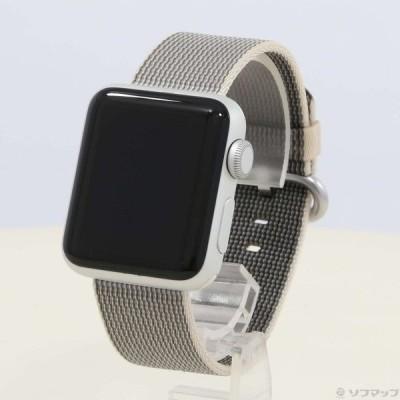 〔中古〕Apple(アップル) Apple Watch Series 2 38mm シルバーアルミニウムケース パールウーブンナイロン〔349-ud〕