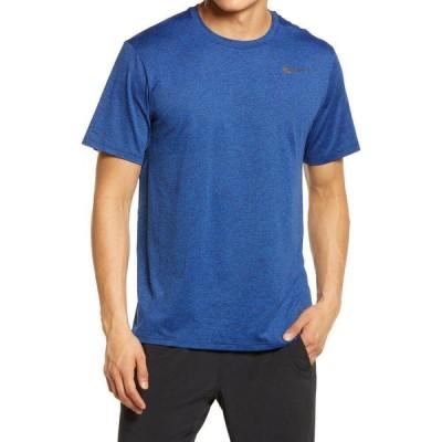 ナイキ NIKE メンズ フィットネス・トレーニング ドライフィット Tシャツ トップス Dri-FIT Static Training T-Shirt Obsidian/Game Royal/Heather