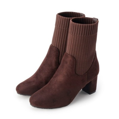 OPAQUE.CLIP / リブデザインブーツ WOMEN シューズ > ブーツ